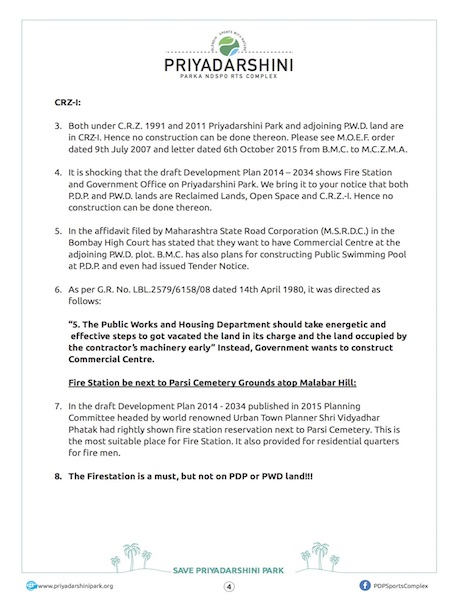 Letter to Chief Minister - Page 2